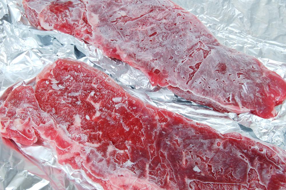 come congelare la carne?